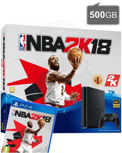 PlayStation 4 (PS4) Slim 500GB + NBA 2K18