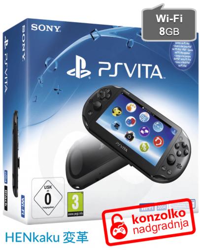 Rabljeno - PlayStation Vita Slim (PCH-2004) + Memory 8GB + HENkaku + Adrenaline + Garancija
