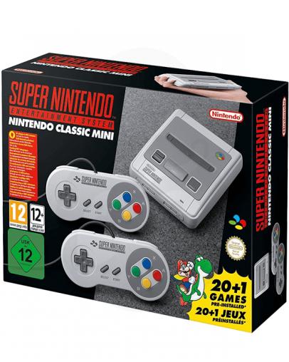 Nintendo Classic Mini SNES + 2x kontroler + 21 Prednaloženih iger