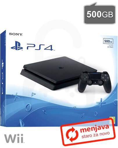 Menjava (staro za novo) Nintendo Wii za PlayStation 4 Slim (PS4) 500GB