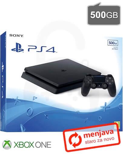 Menjava (staro za novo) Xbox One za PlayStation 4 Slim (PS4) 500GB