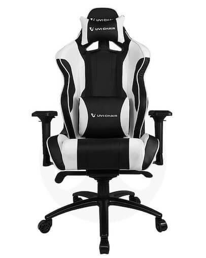 Gamerski Stol UVI Chair Sport XL White, bel