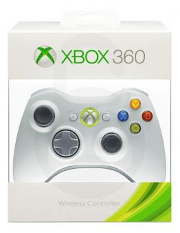 Xbox 360 brezžični kontroler (kompatibilen), bel