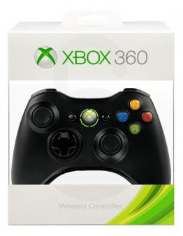Xbox 360 brezžični kontroler (kompatibilen), črn