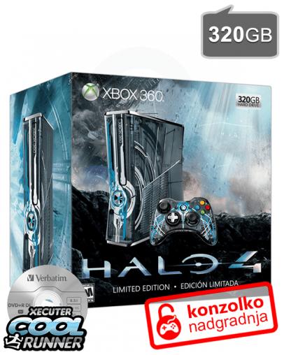 Rabljeno - Xbox 360 Slim (S) 320GB Limited Edition Halo 4 + JTAG/RGH  Ultimate + iXtreme