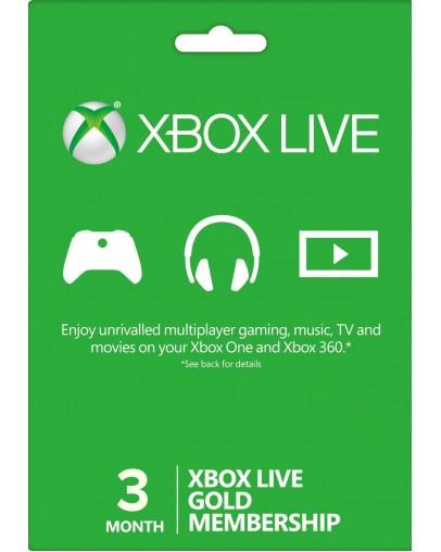Xbox Live Gold 3 mesece (XBOX ONE | XBOX 360)