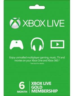 Xbox Live Gold 6 mesecev  (XBOX ONE | XBOX 360)