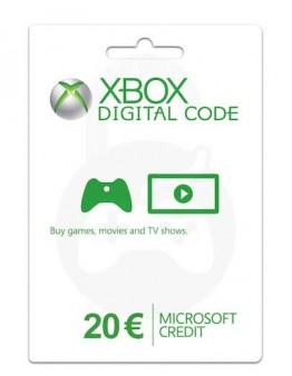 Microsoft Xbox predplačniška kartica 20 EUR (Xbox Live Gift Card)