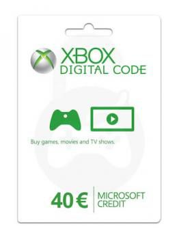 Microsoft Xbox predplačniška kartica 40 EUR (Xbox Live Gift Card)