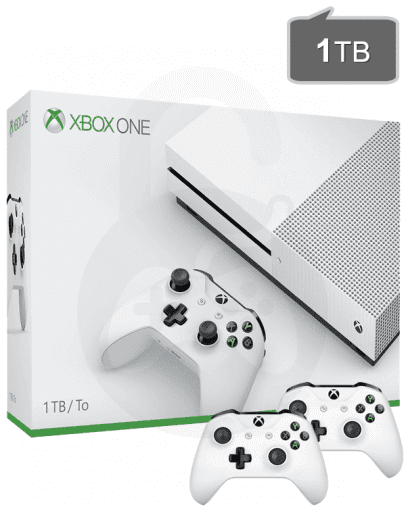 Xbox One S (slim) 1TB + 2x kontroler