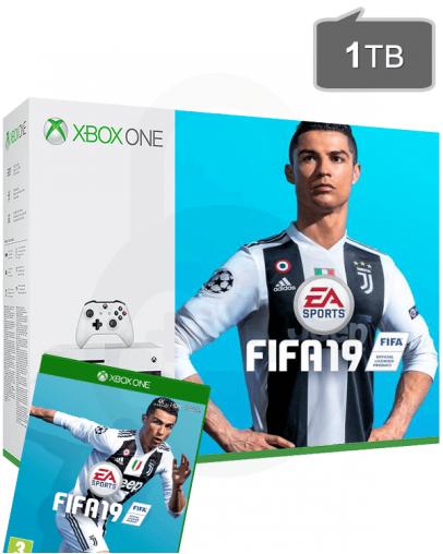 Xbox One S (slim) 1TB + FIFA 19