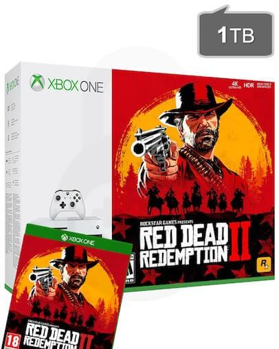 Xbox One S (slim) 1TB + Red Dead Redemption 2 + Game Pass + Xbox Live Gold